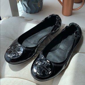 Tory Burch | Black Minnie Ballet Flat | Size 7.5